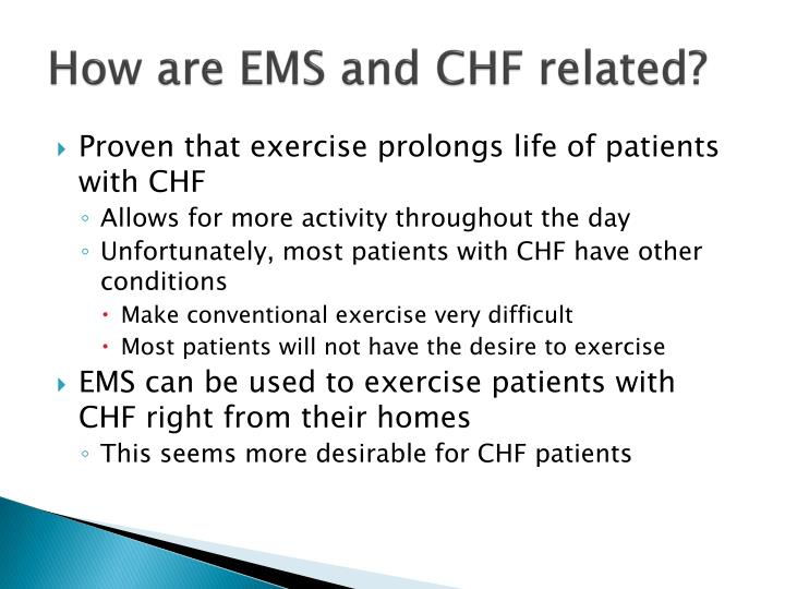 How are EMS and CHF related?