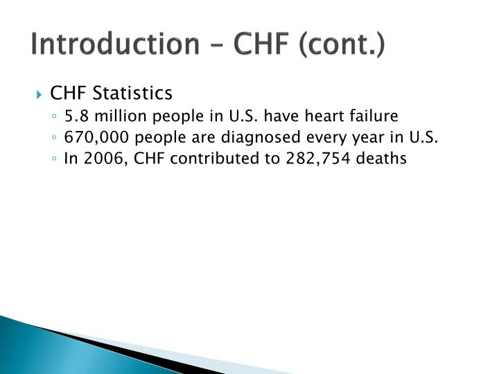 Introduction – CHF (cont.)