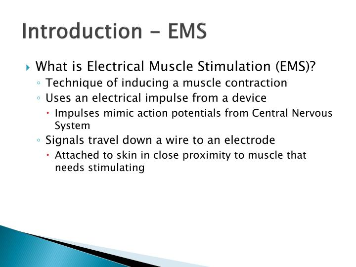 Introduction - EMS