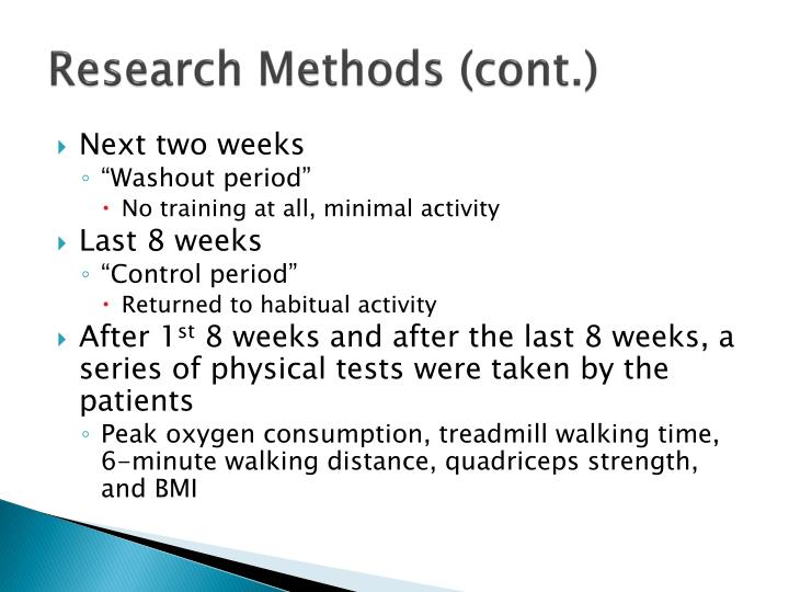 Research Methods (cont.)