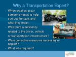 why a transportation expert