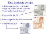 euro banknote designs