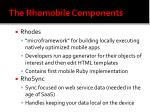 the rhomobile components