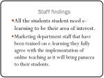 staff findings