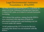 legal environmental assistance foundation v epa 1997