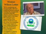 weston wilson letter