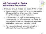 u s framework for taxing multinational transaction2