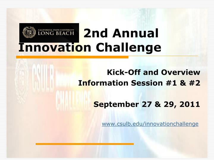 2nd annual innovation challenge n.