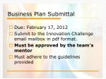 business plan submittal