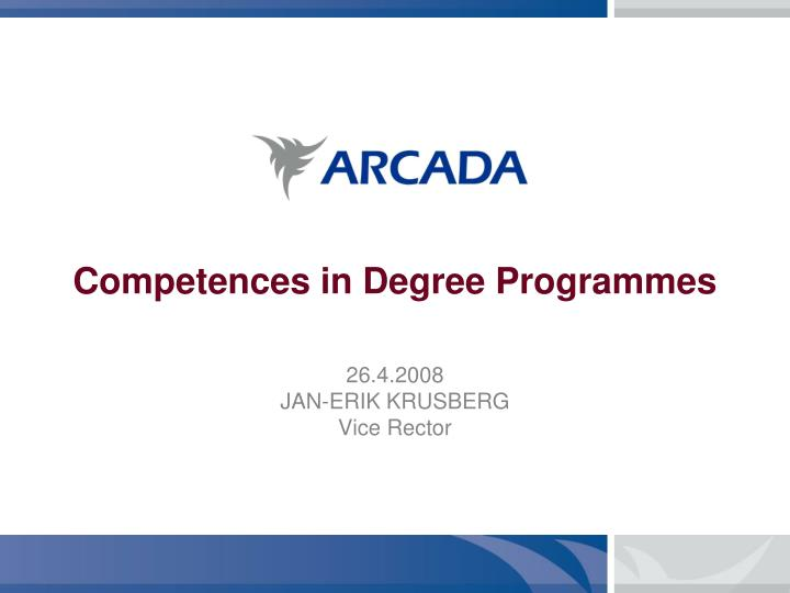 competences in degree programmes n.