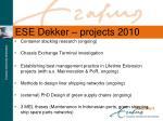 ese dekker projects 2010