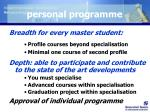 personal programme