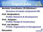 program today
