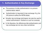 1 authentication key exchange