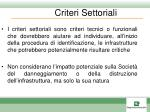 criteri settoriali