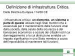 definizione di infrastruttura critica
