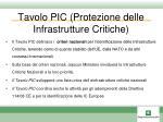 tavolo pic protezione delle infrastrutture critiche1