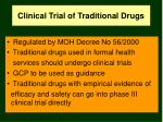 clinical trial of traditional drugs