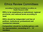ethics review committees