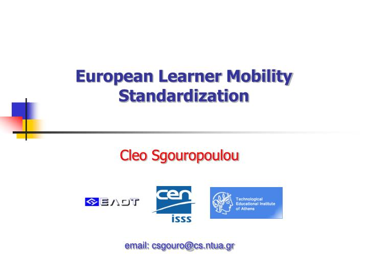 european learner mobility standardization n.