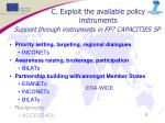 support through instruments in fp7 capacities sp