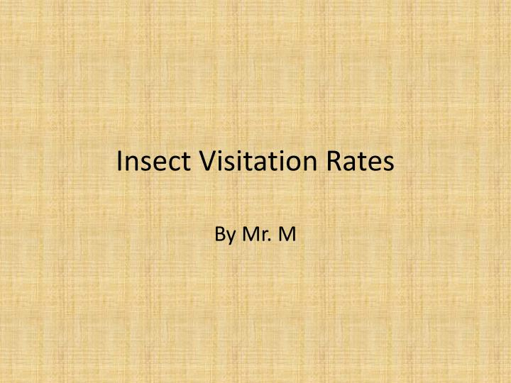 insect visitation rates n.