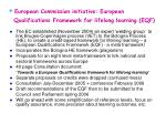 european commission initiative european qualifications framework for lifelong learning eqf