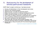 good practice for the development of national qualifications frameworks