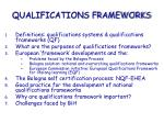 qualifications frameworks