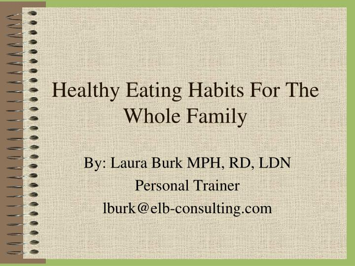 healthy eating habits for the whole family n.
