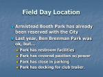 field day location