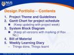 design portfolio contents