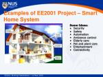 examples of ee2001 project smart home system