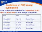 guidelines on pcb design submission