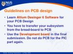 guidelines on pcb design