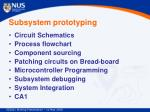subsystem prototyping