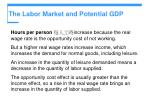 the labor market and potential gdp11