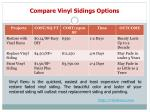 compare vinyl sidings options