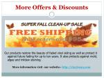 more offers discounts