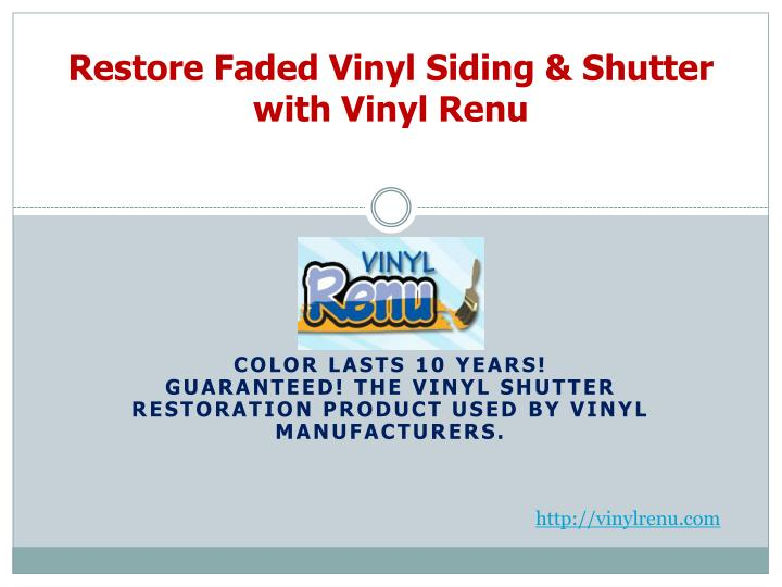 restore faded vinyl siding shutter with vinyl renu n.
