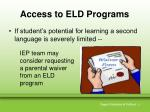 access to eld programs1