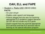 oah ell and fape2