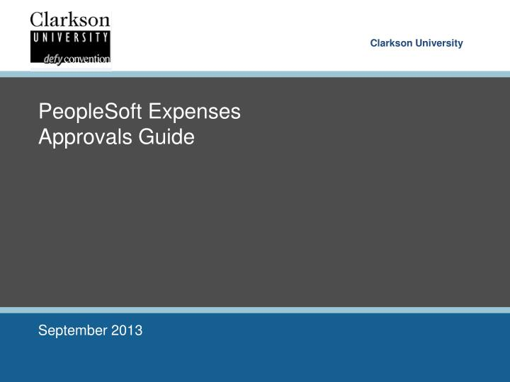 peoplesoft expenses approvals guide n.