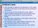 critical lane