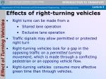 effects of right turning vehicles