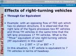 effects of right turning vehicles2