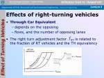 effects of right turning vehicles3