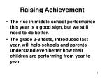 raising achievement1