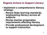 regents actions to support literacy