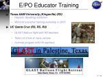 e po educator training6